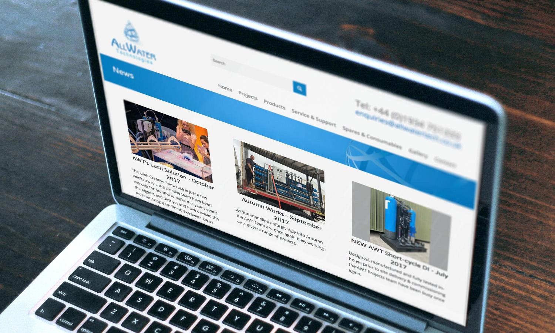 Water Treatment Website Design 2