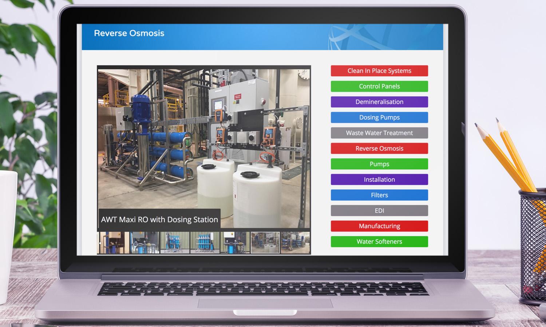 Water Treatment Website Design 3
